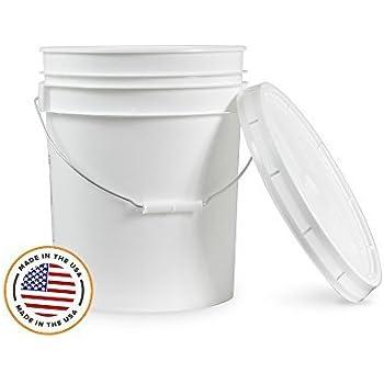 Amazon Com 5 Gallon White Bucket Amp Lid Set Of 1