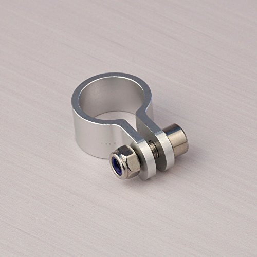 CNC Aluminum Clamp for Muffler Silencer 23 - 26cc Gas Engine Pipe RC Boat ()