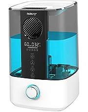 NULAXY Toppfläkt luftfuktare, 4,5 l luftrenare kylare dimma ultraljud luftfuktare med rengöringslarm, timer för sovrum upp till 20–70 m²