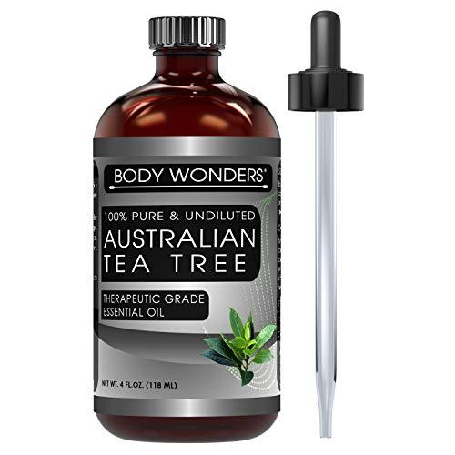 Body Wonders 100% Pure Australian Tea Tree Oil -4 fl oz Bottle- Finest of Essential Oils from Australia for Aromatherapy