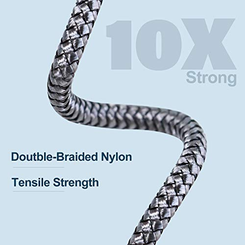 Heavy Duty 6FT 3Pack Charger Cable, 6 Foot Braided Fast Charging Cords Long USB Cable Compatible with iPhone 11 Pro Max/X/XS/XR/8 Plus/7 Pus/ 6s Plus/5 SE/Pad Mini/Air Case