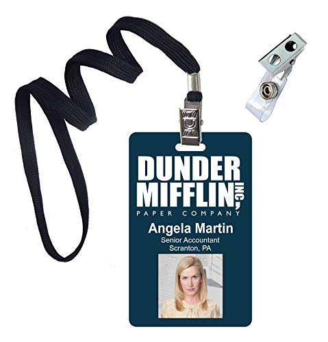 Angela Martin, The Office, Novelty ID Badge Film Prop for Costume and Cosplay • Halloween and Party Accessories -