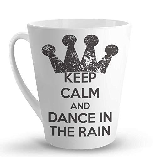 Makoroni - KEEP CALM AND DANCE IN THE RAIN - 12 Oz. Unique LATTE MUG, Coffee Cup (Keep Calm And Dance In The Rain)