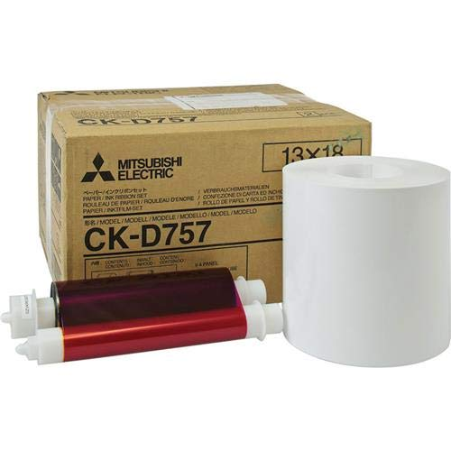 Mitsubishi Electric 5x7 inch Paper Roll and Inksheet Dye Sub Media for CP-D707DW / CD-D70DW, 460 Photos