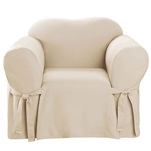 Duck Chair Slipcover Box Seat - Brylanehome Mix & Match Solid Cotton Chair Slipcover (Natural,0)