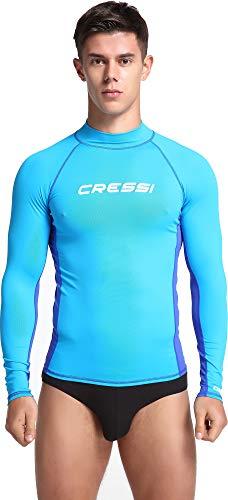 Cressi Herren Lange Ärmel aus elastischem Stoff für Erwachsener UV-Schutz (UPF) 50 Rash Guard
