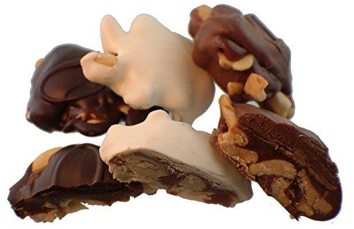 nidad - Cashews and Caramel in Mixed Chocolates 1-lb (Caramel Cashew Candy)