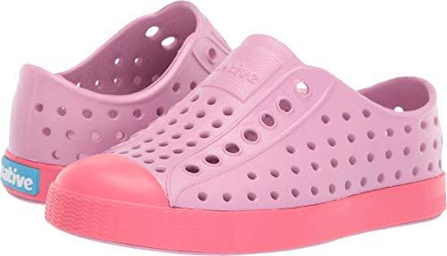 Native Kids Shoes Baby Girl's Jefferson (Toddler/Little Kid) Watercolor Pink/Sakura Pink 12 M US Little - Kids Shoes 12