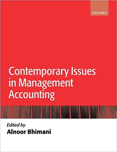 Contemporary Issues in Management Accounting