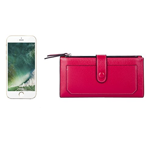 Baellerry Women Soft Leather Long Wallet Large Capacity Cluth Ladies Purse Card Holder (red) by Baellerry (Image #4)