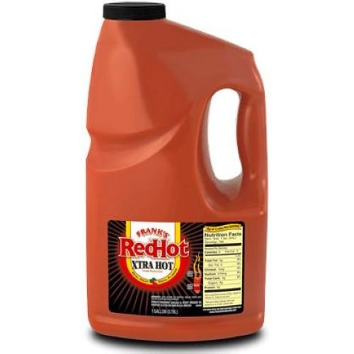 Sauce Franks Hotter Red Hot Plastic 4 Count 1 Gallon