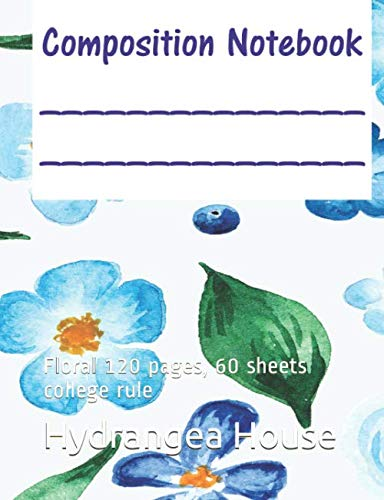 Composition Notebook: Floral  120 pages, 60 sheets college ()