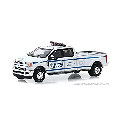 New DIECAST Toys CAR Greenlight 1:64 DUALLY Drivers Series 2-2020 Ford F-350 DUALLY - New York City Police Department (NYPD) 46020-F: Toys & Games