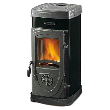 Estufa a leña Nordica Super Junior revestimiento de acero esmaltado Potencia térmica 5 kW 143 M3 calefactables - Color Negro: Amazon.es: Bricolaje y ...