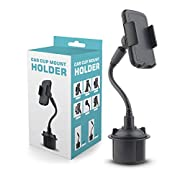 AMZCAR Cup Holder Phone Mount with 360° Rotatable Cradle Long Neck Adjustable Automobile Car Phone Mount Universal for Cell Phone iPhone XR/XS Max/Xs/X/8 Plus/7 Plus/8/7, Samsung Galaxy S9/S9+/S8/S7,