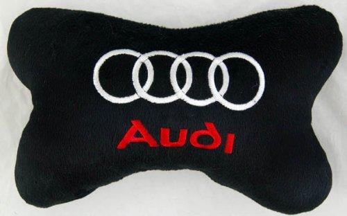 Audi Car Seat Neck Rest Pillow Cushion 2pcs Black