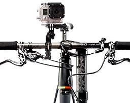 DURAGADGET High Quality Bike Handlebar Mount For GoPro HD Hero 3, White Edition, Surf Edition & Sport Camera