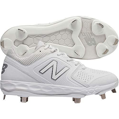 New Balance Women's Velo V1 Metal Softball Shoe, White, 8 B US