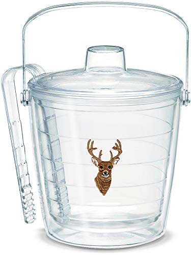 - Tervis 1053670 Deer Insulated Tongs with Emblem and Lid-Boxed, 87Oz Ice Bucket, Clear