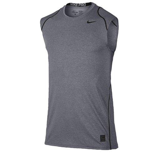 Nike Pro Men's Sleeveless Training Shirt, Carbon Heather/Black/Black, X-Large (Nike Pro Combat Shirts Hypercool)