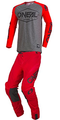 Hexx (Youth RED Y-Large/Y-26W) MX Riding Gear Combo Set, Motocross Off-Road Dirt Bike Jersey & Pant ()
