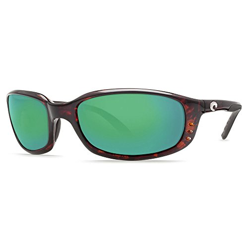 Costa Del Mar Brine Polarized Sunglasses, Tortoise, Green Mirror