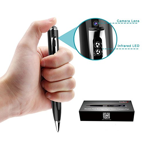 Hidden Spy Pen Camera - Conbrov 1080P HD Portable Mini Body Camera Video Recorder with Night Vision and Loop Recording for Home and Office - SD Card Not Included by Conbrov