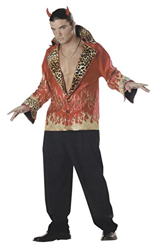 Mario Chiodo Mens Rock And Roll Elvis Vegas Demon Devil Halloween Party Costume, One Size