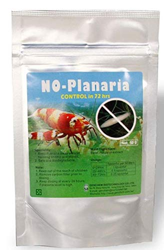 Genchem No Planaria 50g - gets rid of small white worms in your aquarium (fast!)