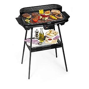 Barbecue elettrico Princess 112247 – Dotato di supporto – Grandi dimensioni 47 x 28 cm, Nero 1 spesavip
