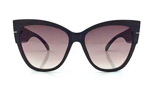 Cat Eye Vintage Womens Oversized Large Designer Sunglasses Anoushka (Dark - Eye Sunglasses Cat Large