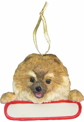 Pomeranian Ornament Red