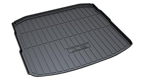 Vesul Rubber Rear Trunk Cover Cargo Liner Trunk Tray Floor Mat Fits on Audi A3 Sedan 2014 2015 2016 2017 2018 2019 Audi A3 Rear Mat