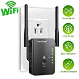 WiFi Range Extender with WPS Internet Signal Repeater- 300Mpbs Wireless Booster with 2.4GHz High Gain Dual Antennas, 2 Ethernet Ports -Compatible with Alexa Device for Covering Whole Home