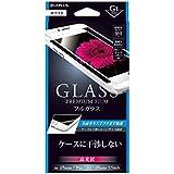 iPhone 8 Plus/7 Plus ガラスフィルム 「GLASS PREMIUM FILM」 フルガラス ブラック/高光沢/[G1] 0.33mm【ホワイト】