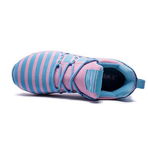 Walking Sneakers ONEMIX Men's Running Jogging Bule Shoes Women's Pink qFwP7pwX1