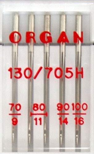 100 10 NEEDLES 80 90 ORGAN DOMESTIC SEWING MACHINE NEEDLES MIX PACK SIZE 70