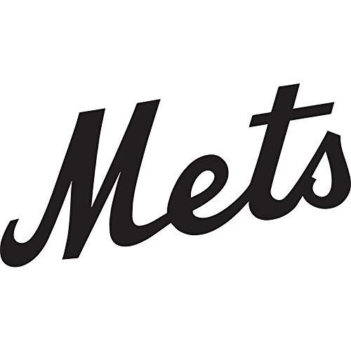 NBFU DECALS MLB New York Mets 2 (Black) (Set of 2) Premium Waterproof Vinyl Decal Stickers for Laptop Phone Accessory Helmet CAR Window Bumper Mug Tuber Cup Door Wall Decoration ()