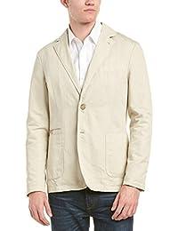 Faconnable Mens Seersucker Sportcoat, 46, Blue