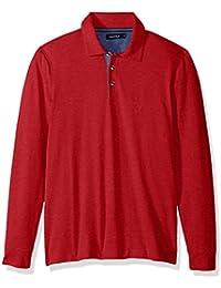 Men's Long Sleeve Solid Polo Shirt