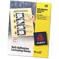 AVE73603 - Avery Clear Self-Adhesive Laminating Sheets