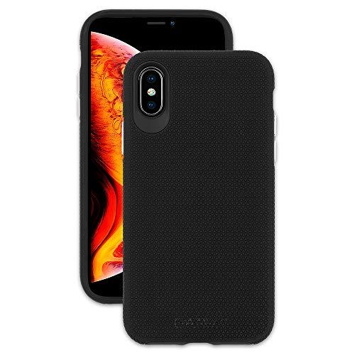 Emerge - iPhone Xs Grip Case/iPhone X Grip Case - Duoflex - Enhanced Grip - 10 ft Drop Protection - Black