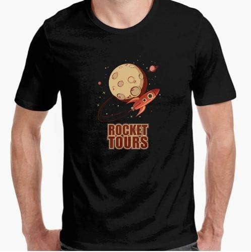 Camiseta - diseño Original - Cohete Espacial Retro Vintage - S: Amazon.es: Hogar