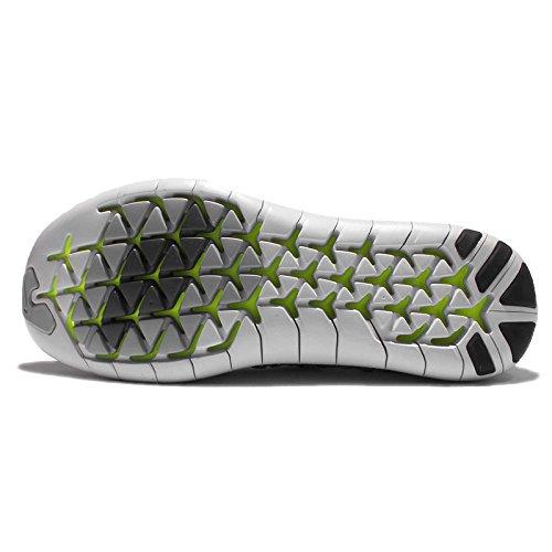 Nike Mænds Fri Rn Bevægelse Flyknit, Hvid / Sort-volt-off Hvid, 6,5 M Os