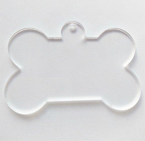 10PCS of Clear Blank Acrylic Keychains Laser Cut Bone Key Chains Acrylic