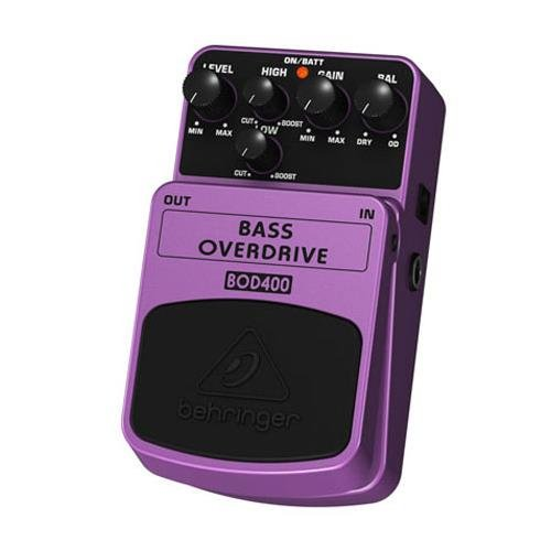 Behringer Bass Overdrive BOD400 Authentic Tube-Sound Overdrive Effects Pedal