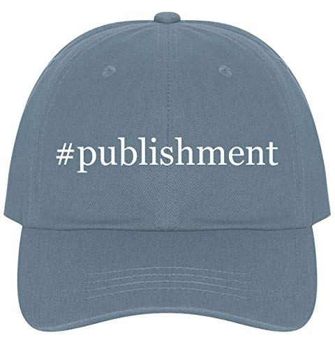 - The Town Butler #Publishment - A Nice Comfortable Adjustable Hashtag Dad Hat Cap, Light Blue