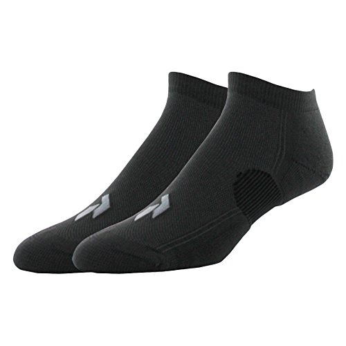 Pree Premium Technical Low-Cut Running Socks for Adults (2-pack), Black, Large
