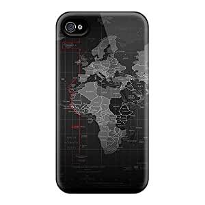 GkYCkhW3282zDgHl Case Cover Black Map Iphone 4/4s Protective Case by lolosakes