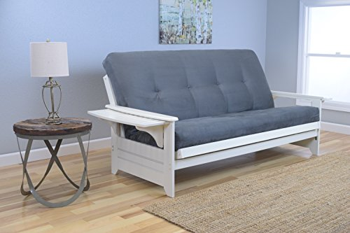 Kodiak Furniture KFPHAWSGRYLF5MD3 Futon Set, Full, White